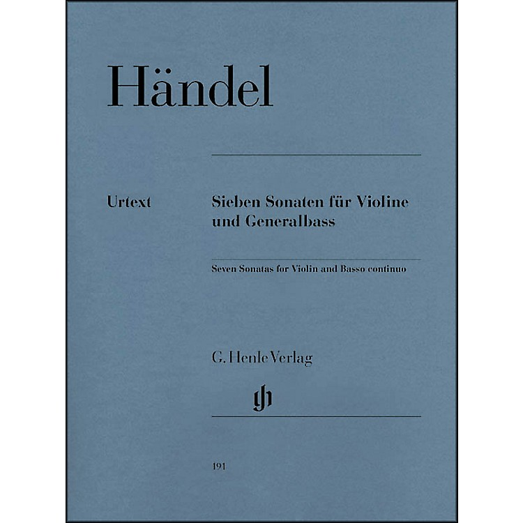 G. Henle Verlag7 Sonatas for Violin and Basso Continuo By Handel