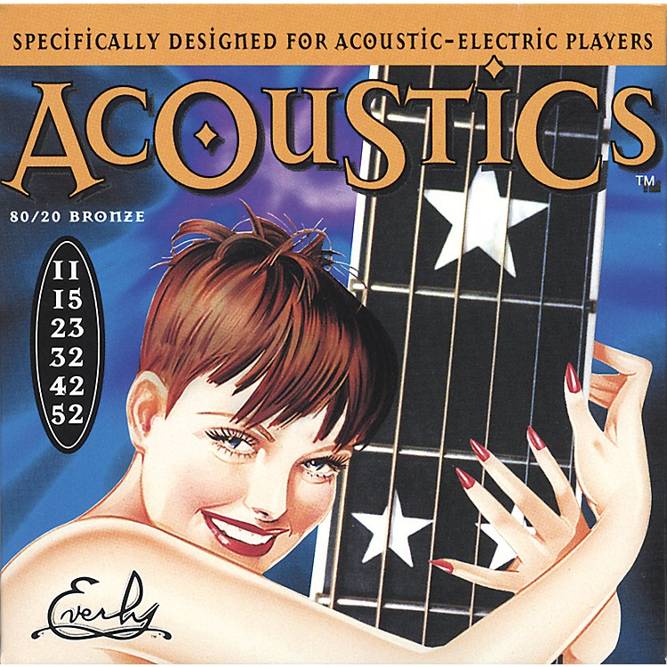 Everly7011 Acoustics 80/20 Light Acoustic-Electric Guitar Strings