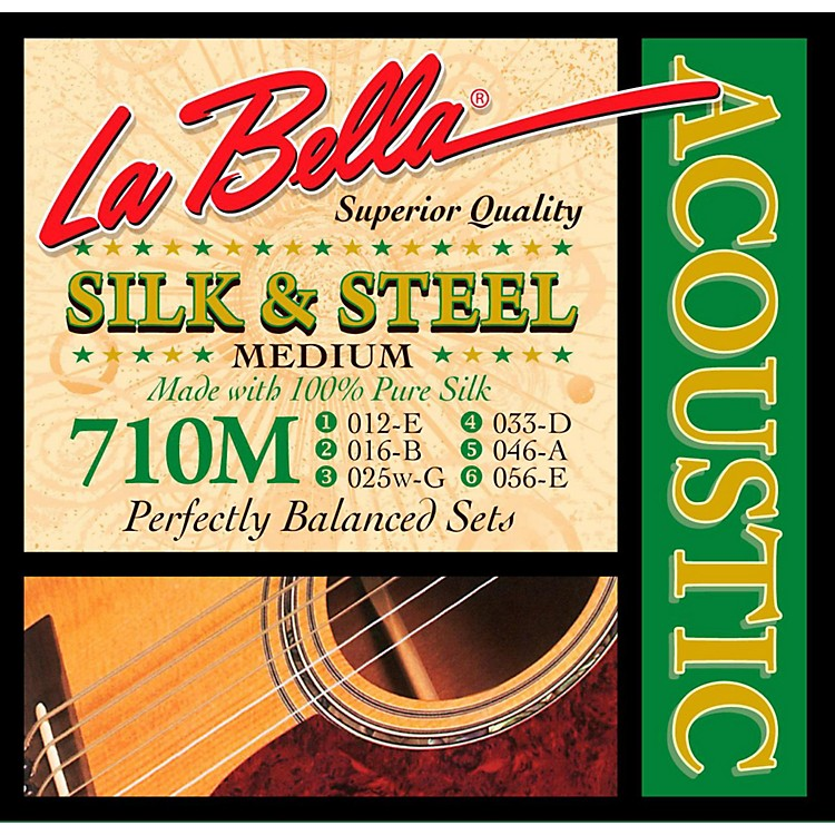 LaBella 710L Silk & Steel Light Acoustic Guitar Strings