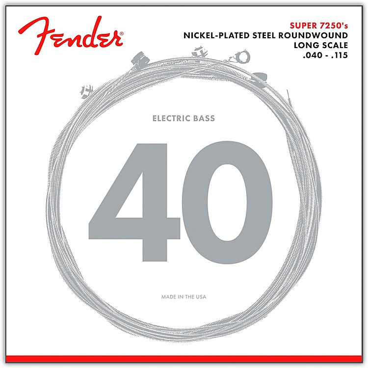 Fender7250-5L Super Bass Nickel-Plated Steel Long Scale 5-String Bass Strings - Light