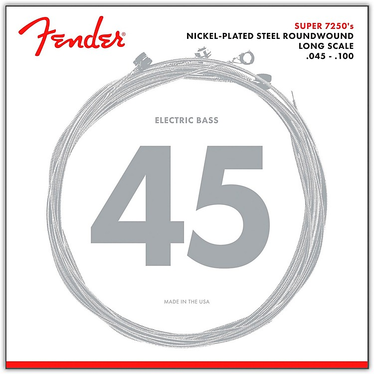 Fender7250ML Super Bass Nickel-Plated Steel Long Scale Bass Strings - Medium Light