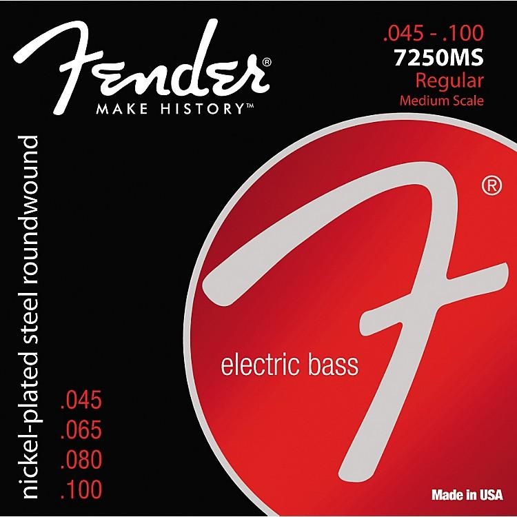 Fender7250MS Super Bass Nickel-Plated Steel Medium Scale Bass Strings