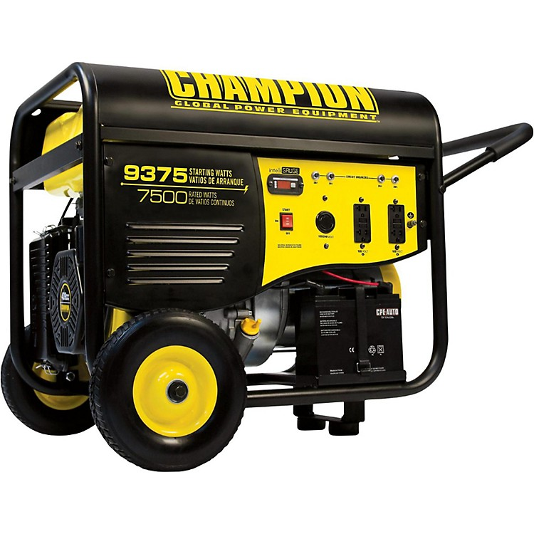 Champion Power Equipment7500/9375 Watt Portable Gas-Powered Electric Start Generator with 25 foot Power Cord