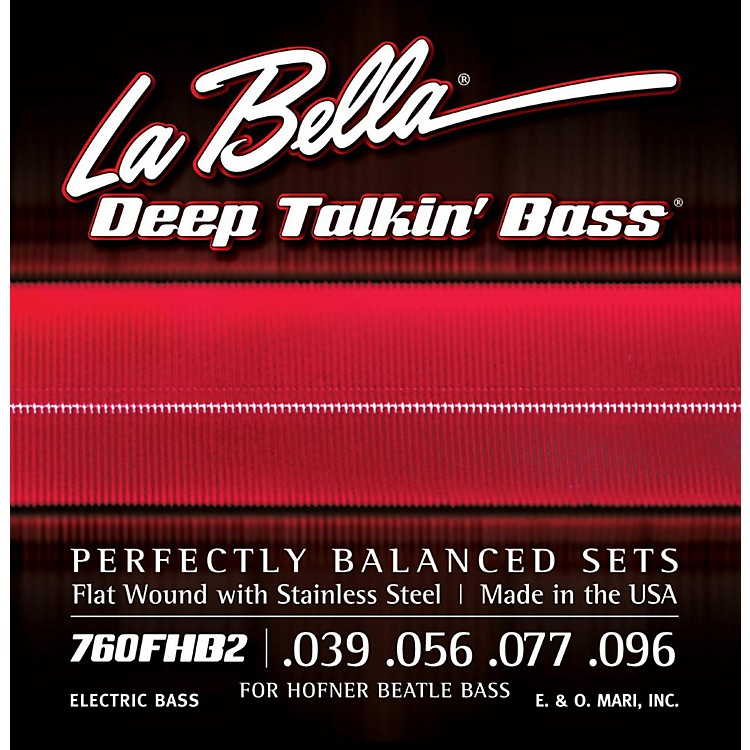 LaBella760FHB2 Beatle Bass Flat Wound Light Electric Bass Strings