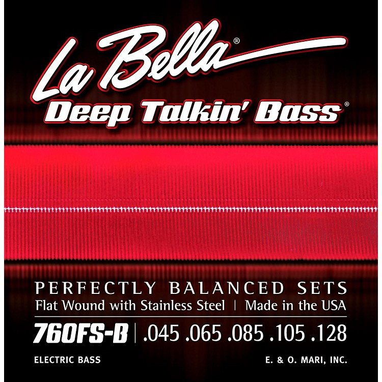 LaBella 760FS-B Deep Talkin' Bass Flat Wound Standard 5-String Electric Bass Strings