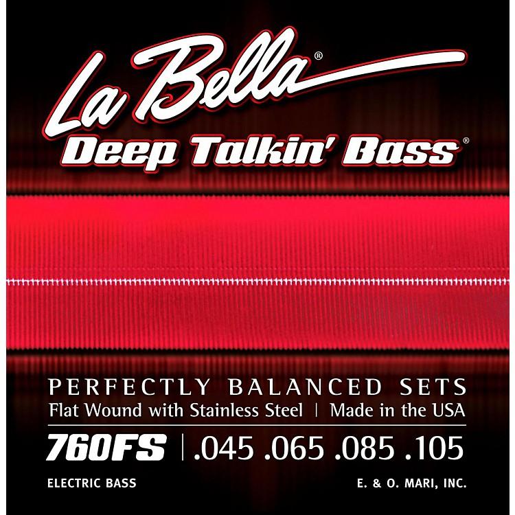 LaBella760FS Deep Talkin' Bass Flat Wound Standard Electric Bass Strings
