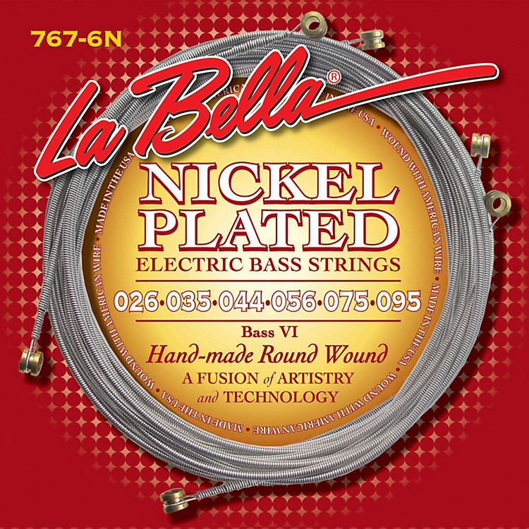 LaBella 767-6N Nickel Round Wound 6-String Bass Strings Nickel