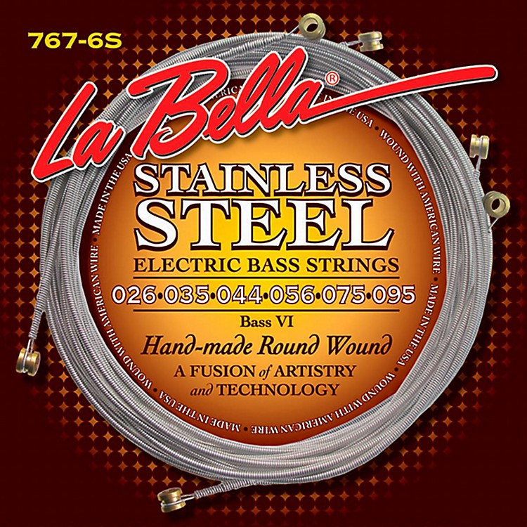 LaBella767-6S Stainless Round Wound 6-String Bass Strings