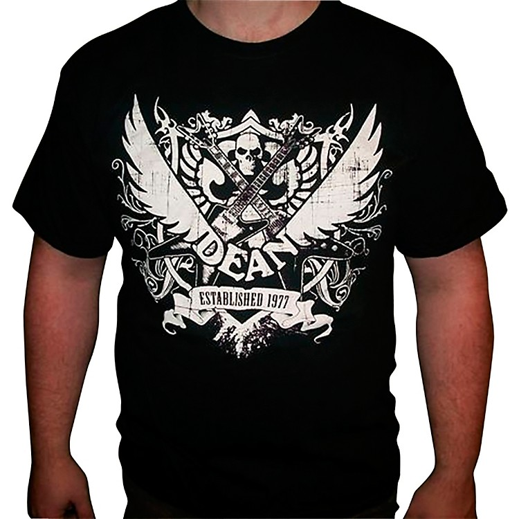 Dean 77 Crest Black T-Shirt Large