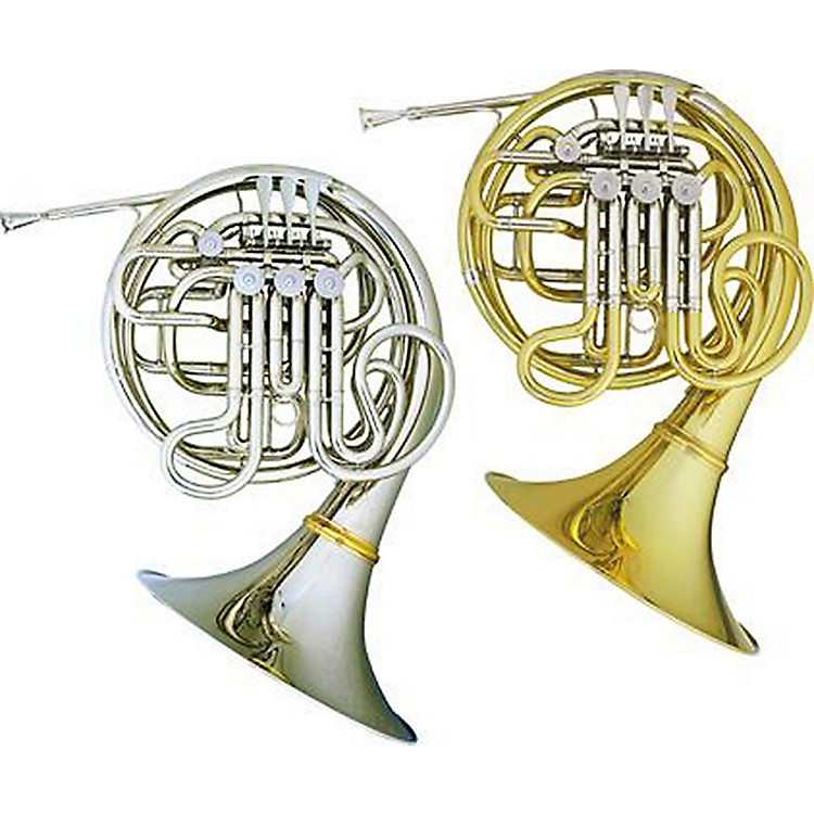 Hans Hoyer 7801 Nickel Double French Horn  886830264542