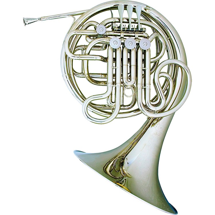 Hans Hoyer 7801 Nickel Double French Horn Nickel Silver Fixed Bell