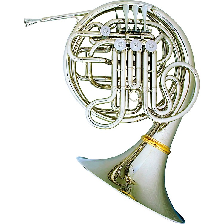 Hans Hoyer7801NSA Heritage Kruspe Style Series Double Horn with Mechanical Linkage and Detachable BellNickel SilverDetachable Bell