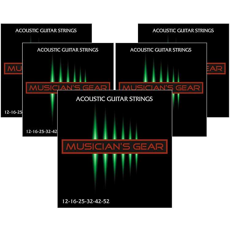 Musician's Gear 80/20 Bronze Acoustic Guitar Strings Light 5-Pack