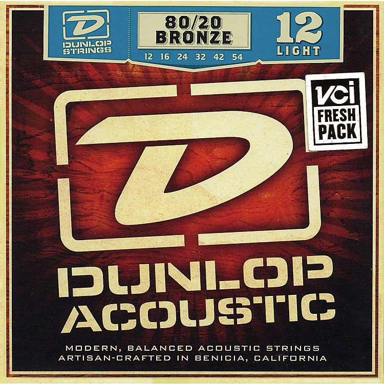 Dunlop80/20 Bronze Light Acoustic Guitar Strings