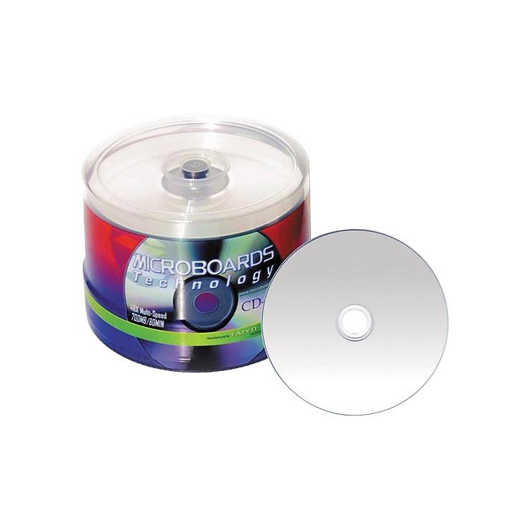 Taiyo Yuden80 Minute/700 MB CD-R, 52X Silver Inkjet Hub Printable, 100 Disc Spindle