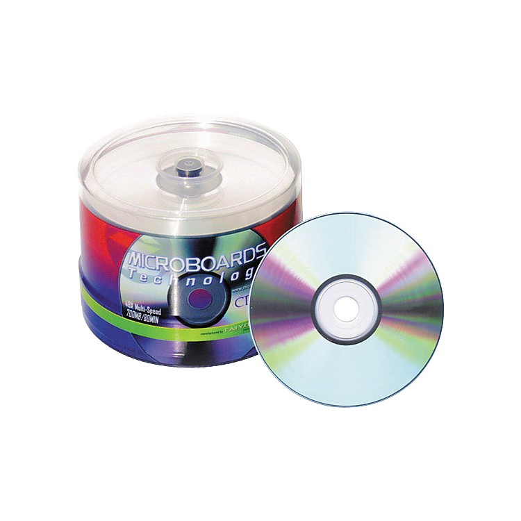 Taiyo Yuden 80 Minute/700 MB CD-R 52X Silver Thermal (Hub Printable), 100 Disc Spindle