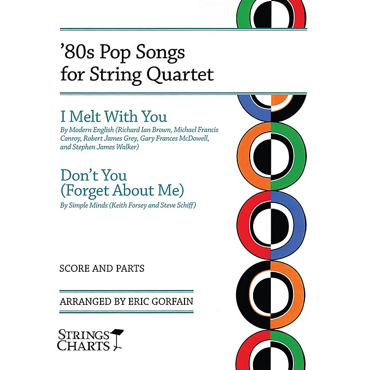 String Letter Publishing80s Pop Songs for String Quartet String Letter Publishing by Modern English Arranged by Eric Gorfain