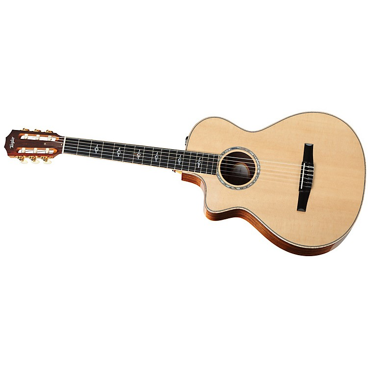 Taylor812ce-N-L Rosewood/Spruce Nylon String Grand Concert Left-Handed Acoustic-Electric Guitar