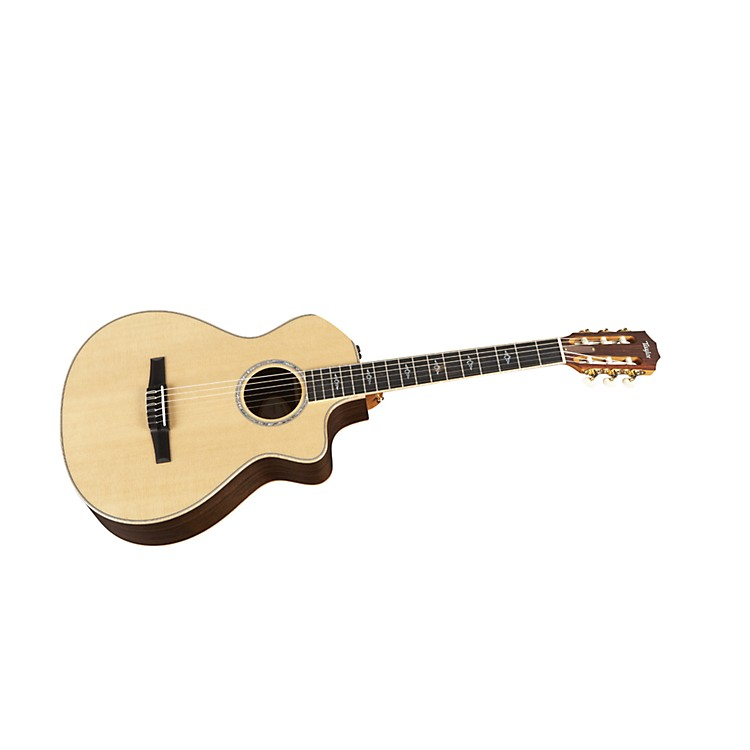 Taylor812ce-N Rosewood/Spruce Nylon String Grand Concert Acoustic-Electric Guitar