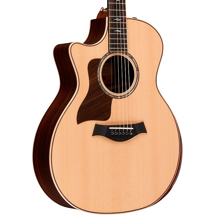 Taylor814ce DLX V-Class Grand Auditorium Left-Handed Acoustic-Electric GuitarNatural