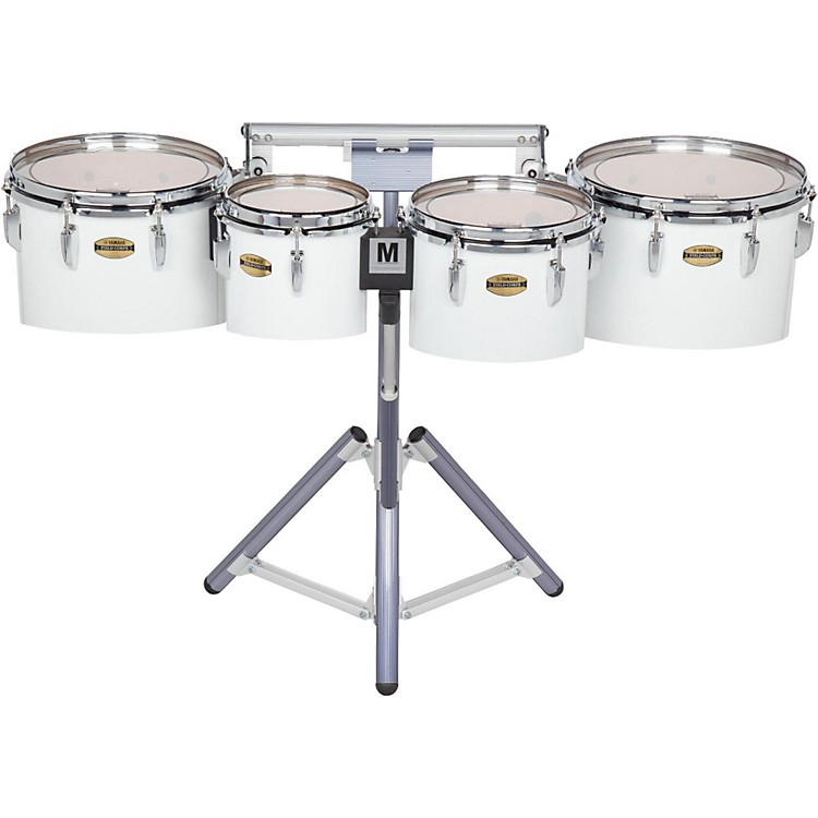 Yamaha8300 Series Field-Corp Series Marching Tenor Quad8/10/12/13 in.White wrap