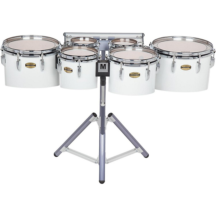 Yamaha8300 Series Field-Corps Marching Sextet6, 6, 8, 10, 12, 13 in.White wrap