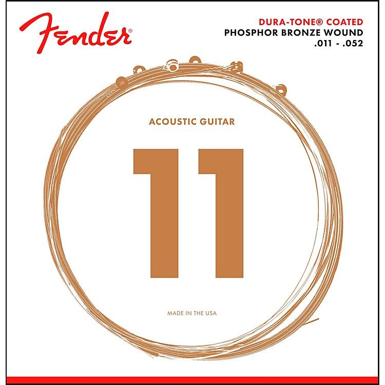 Fender860CL Phosphor Bronze Dura-Tone Coated Acoustic Guitar Strings 11-52