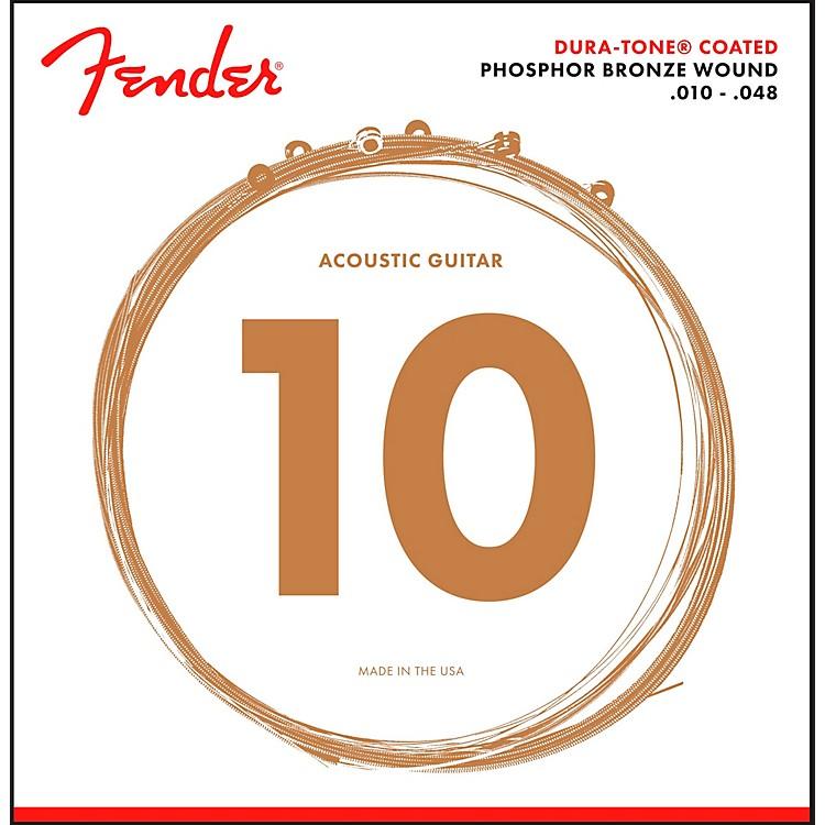 Fender860XL Phosphor Bronze Dura-Tone Coated Extra Light Acoustic Guitar Strings 10-48