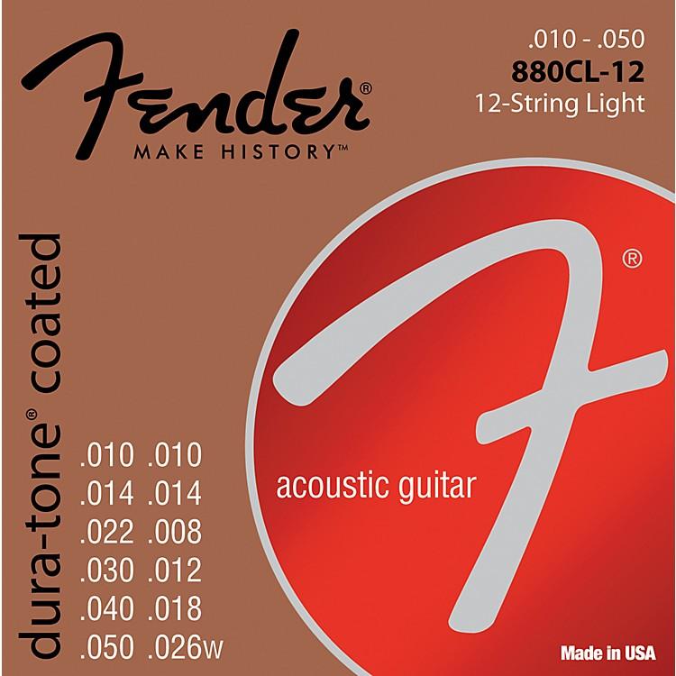 Fender880CL-12 Coated 80/20 Bronze 12-String Acoustic Strings - Custom Light