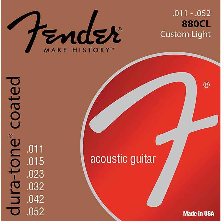 Fender880CL Coated 80/20 Bronze Acoustic Guitar Strings - Custom Light
