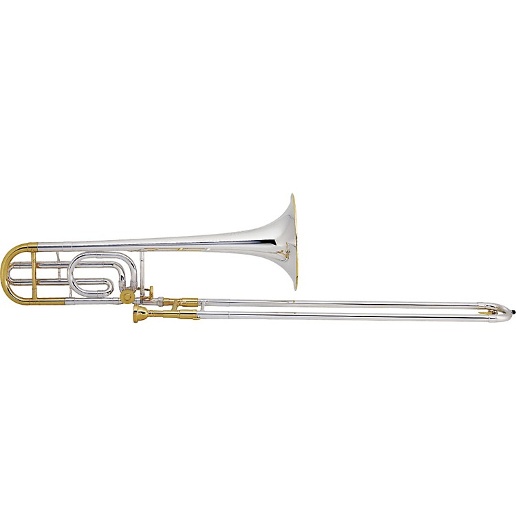 Conn 88H Symphony Series F Attachment Trombone Silver Sterling Bell Gold Trim