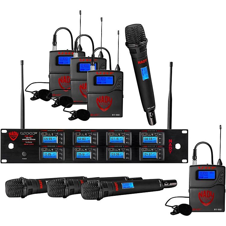 Nady8W-1KU - Eight 1000-Channel Combo Wireless System