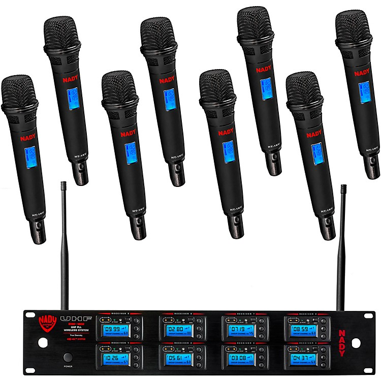 Nady 8W-1KU - Eight 1000-Channel Lapel Wireless System
