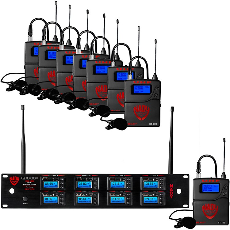 Nady 8W-1KU - Eight 1000-Channel Lavalier Wireless System