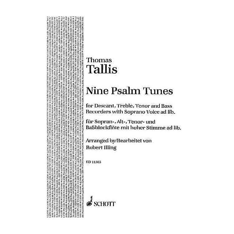 Schott9 Psalm Tunes (Performance Score) Schott Series by Thomas Tallis