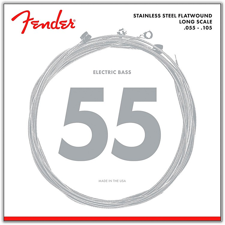 Fender9050M Stainless Steel Flatwound Long Scale Bass Strings - Medium