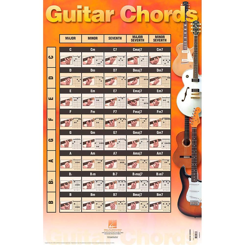 Hal Leonard Guitar Chords (Poster) 9780634061097   eBay