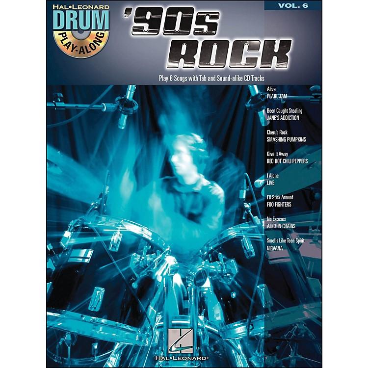 Hal Leonard90s Rock - Drum Play-Along Volume 6 Book/CD