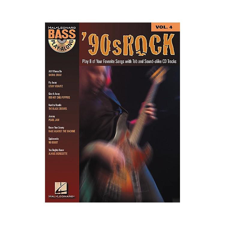 Hal Leonard90s Rock Bass Play-Along Series Book with CD