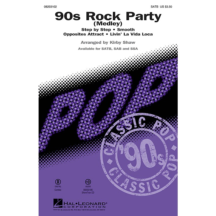 Hal Leonard90s Rock Party (Medley) ShowTrax CD Arranged by Kirby Shaw