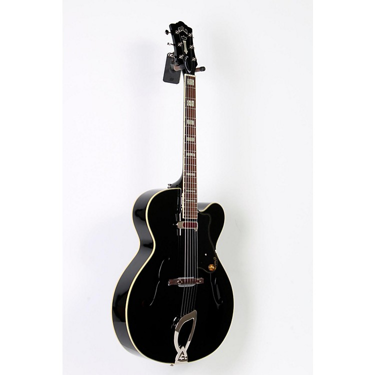 Guild A-150 Savoy Hollowbody Archtop Electric Guitar Black 888365678719