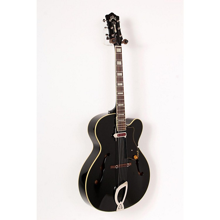 Guild A-150 Savoy Hollowbody Archtop Electric Guitar Black 888365700809