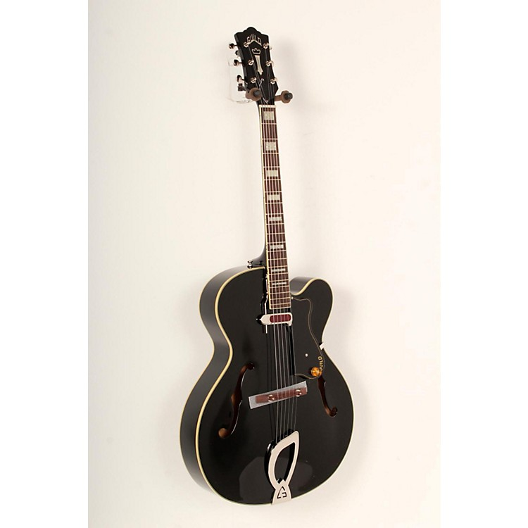 Guild A-150 Savoy Hollowbody Archtop Electric Guitar Black 888365772240
