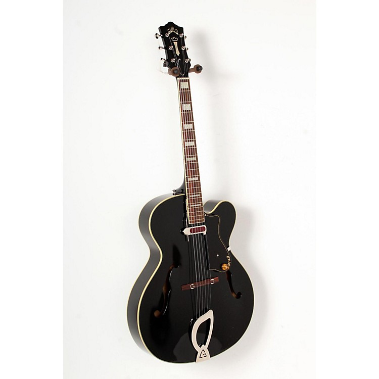 Guild A-150 Savoy Hollowbody Archtop Electric Guitar Black 888365800073
