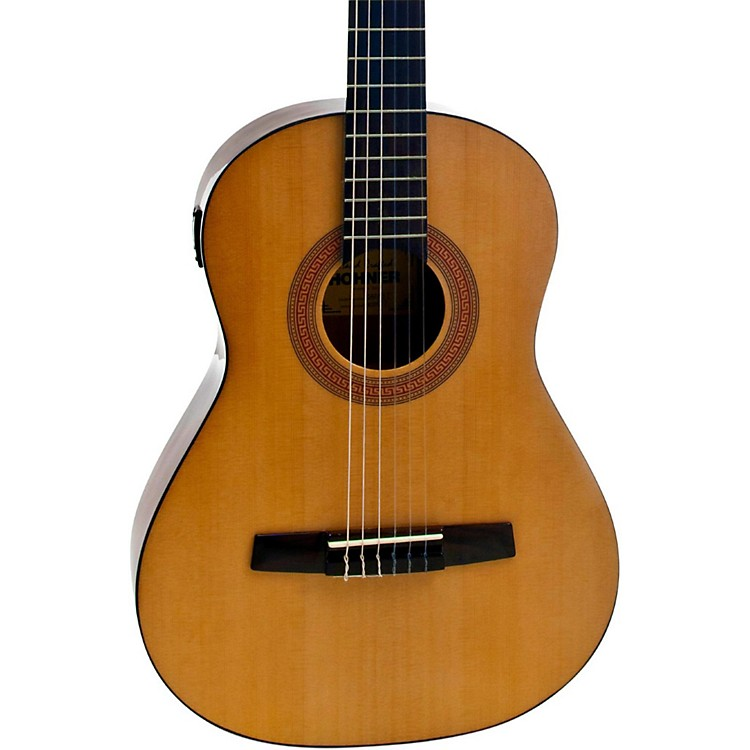 hohner a 3 4 size nylon string acoustic guitar with tuner music123. Black Bedroom Furniture Sets. Home Design Ideas