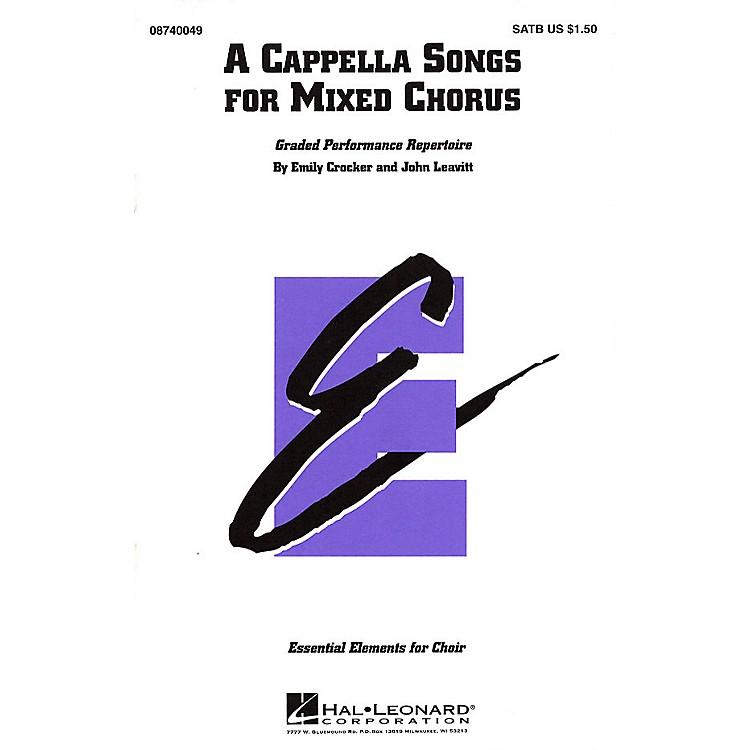 Hal LeonardA Cappella Songs for Mixed Chorus SATB a cappella