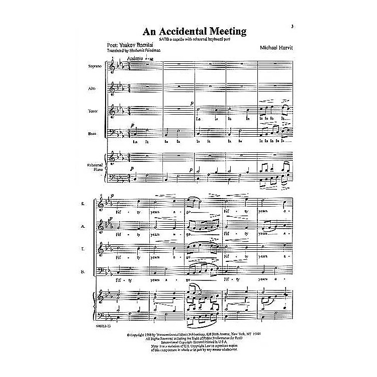 Transcontinental MusicA Child's Journey SATB composed by Michael Horvit