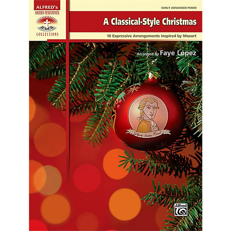 Alfred A Classical-Style Christmas Early Advanced Piano Book