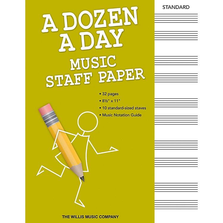 Willis MusicA Dozen a Day - Music Staff Paper Willis Series Softcover Written by Edna Mae Burnam