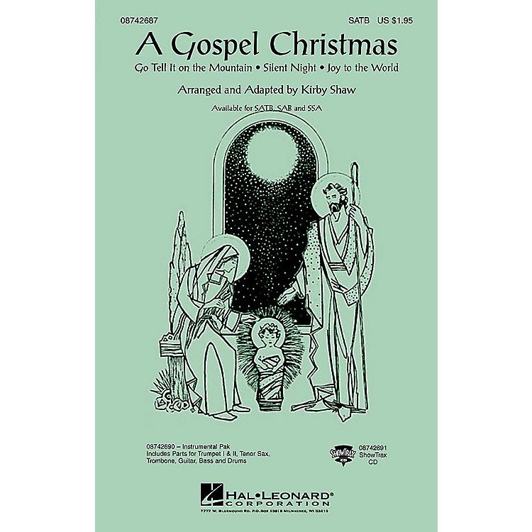 Hal LeonardA Gospel Christmas (Medley) ShowTrax CD Arranged by Kirby Shaw